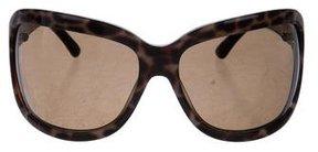 Saint Laurent Leopard Print Oversize Sunglasses