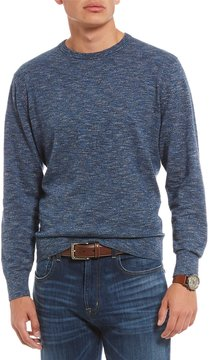 Daniel Cremieux Solid Marled Long-Sleeve Sweater