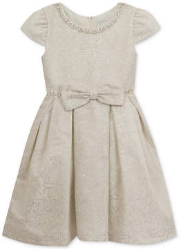 Rare Editions Embellished Brocade Fit & Flare Dress, Little Girls (4-6X), Created for Macy's