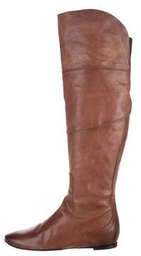 Alberto Fermani Leather Over-The-Knee Boots