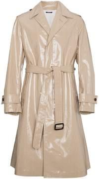 Calvin Klein Beige High Shine Trench Coat