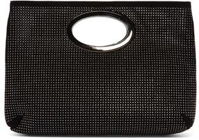 Women's PANDORA2 - Embellished Perforated Kid Suede Clutch