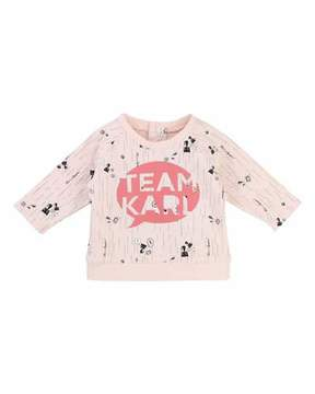 Karl Lagerfeld Team Allover Print Sweatshirt, Size 3-12 Months