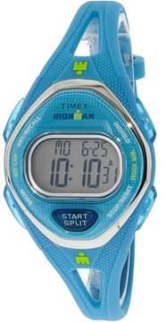 Timex Women's Ironman Sleek TW5M13500 Blue Silicone Quartz Sport Watch
