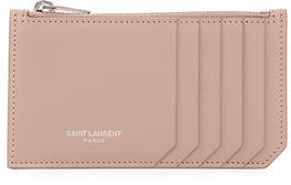 Saint Laurent Small Zip-Top Card Case - NUDE - STYLE