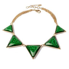 Amrita Singh Purple & Evergreen Reversible Bermuda Bib Necklace