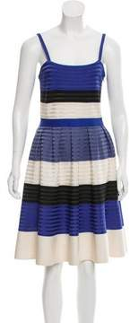 Christian Dior Striped Silk Dress