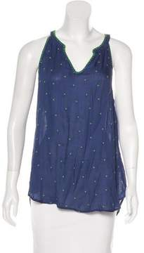 Ella Moss Sleeveless Embroidered Top w/ Tags