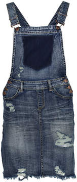 Dollhouse Blizzard Blue Distressed Skirtall - Juniors & Plus