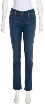 Black Orchid Mid-Rise Straight-Leg Jeans