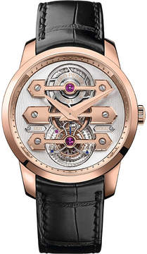 Girard Perregaux Girard-Perregaux 99193-52-002-BA6A Bridges Tourbillon 18ct pink gold and alligator leather watch