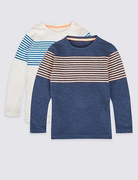 Marks and Spencer 2 Pack Striped Tops (3 Months - 6 Years)