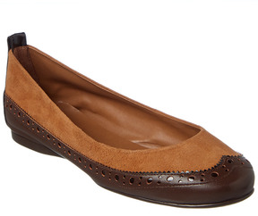 French Sole Solar Leather & Suede Flat