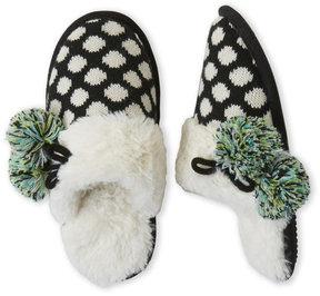 Dearfoams Pom Pom Clog Slippers