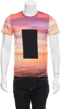 Calvin Klein Collection Sunset Print Graphic T-Shirt