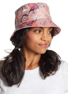 Steve Madden Floral Stitched Bucket Hat