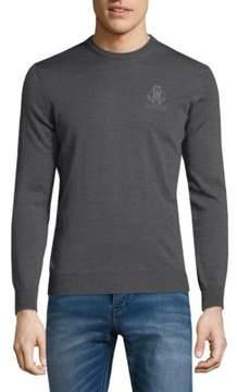 Roberto Cavalli Wool Crewneck Sweater