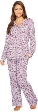 Eileen West Peached Jersey Notch Collar Pajamas