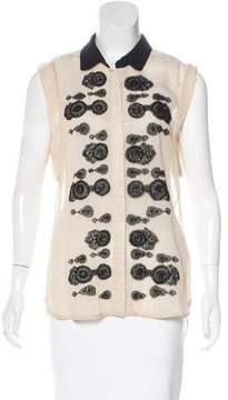DAY Birger et Mikkelsen Silk-Accented Embellished Top
