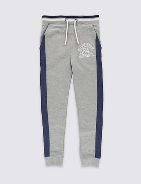 Marks and Spencer Cotton Rich Striped Joggers (3-14 Years)