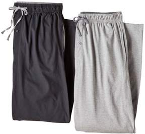Hanes Big & Tall 2-pk. Solid Knit Lounge Pants