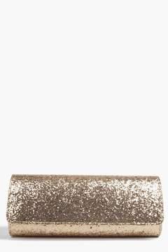 boohoo Structured Glitter Clutch Bag