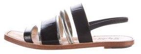 Elizabeth and James Leather Multistrap Slingback Sandals