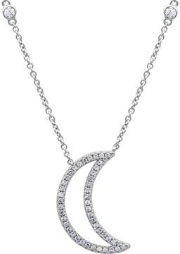 Crislu CZ Moon Pendant Necklace
