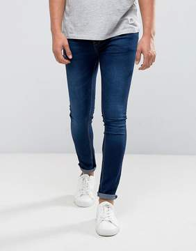 Pull&Bear Super Skinny Jeans In Dark Wash Blue