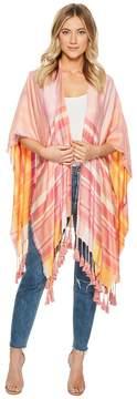 Echo Marina Plaid Reversible Ruana Women's Clothing