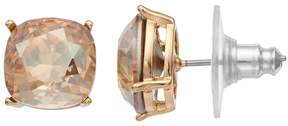 Brilliance+ Brilliance Gold Tone Stud Earrings with Swarovski Crystals