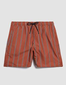 Saturdays NYC Timothy Sripe Short in Copper Rose