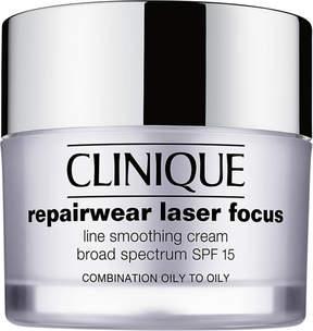 Clinique Repairwear Laser Focus Line Smoothing Cream Broad Spectrum SPF 15 Combination Oil to Oily
