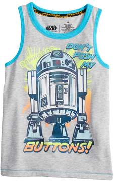 Star Wars A Collection For Kohls Boys 4-7x a Collection for Kohl's Don't Push My Buttons R2D2 Tank