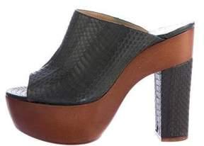 Alexa Wagner Snakeskin Platform Sandals w/ Tags