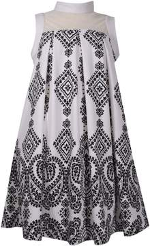 Bonnie Jean Girls 7-16 Mock Neck Pleated Shift Dress