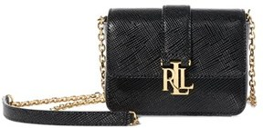 Lauren Ralph Lauren Lauren By Ralph Lauren Mini Carrington Beckett Leather Crossbody Bag.