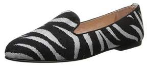 French Sole Womens Motif Leather Closed Toe Loafers.