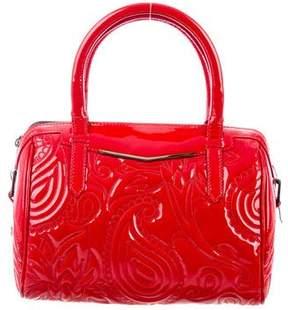 Reece Hudson Patent-Leather Handle Bag