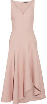 Alexander McQueen Wool-blend Midi Dress - Beige