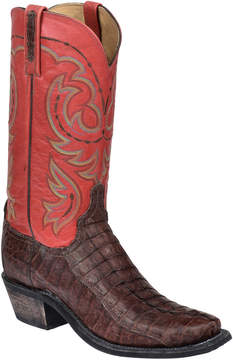Lucchese Men's Sienna Stonewashed Leather Tail Western Boot