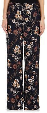 Derek Lam 10 Crosby Women's Floral Textured Silk-Blend Wide-Leg Pants