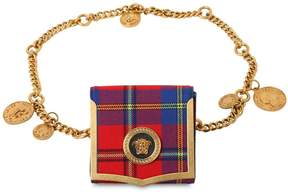 Versace Wool Plaid Belt Bag With Coin Charms