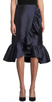 Eliza J Ruffle-Trimmed Skirt