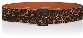 MAISON BOINET Women's Leopard-Print Calf Hair Belt