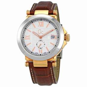 GUESS GC-B1 White Dial Men's Leather Watch X61002G1