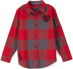 Buffalo David Bitton Cranberry Plaid Cinge Button-Up - Boys