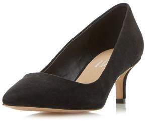 Head Over Heels *Head Over Heels by Dune Black Annabel Mid Heel Court Shoes