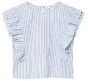MANGO Ruffles stripe-patterned blouse