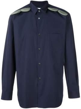 Comme des Garcons shoulder appliqué detail shirt